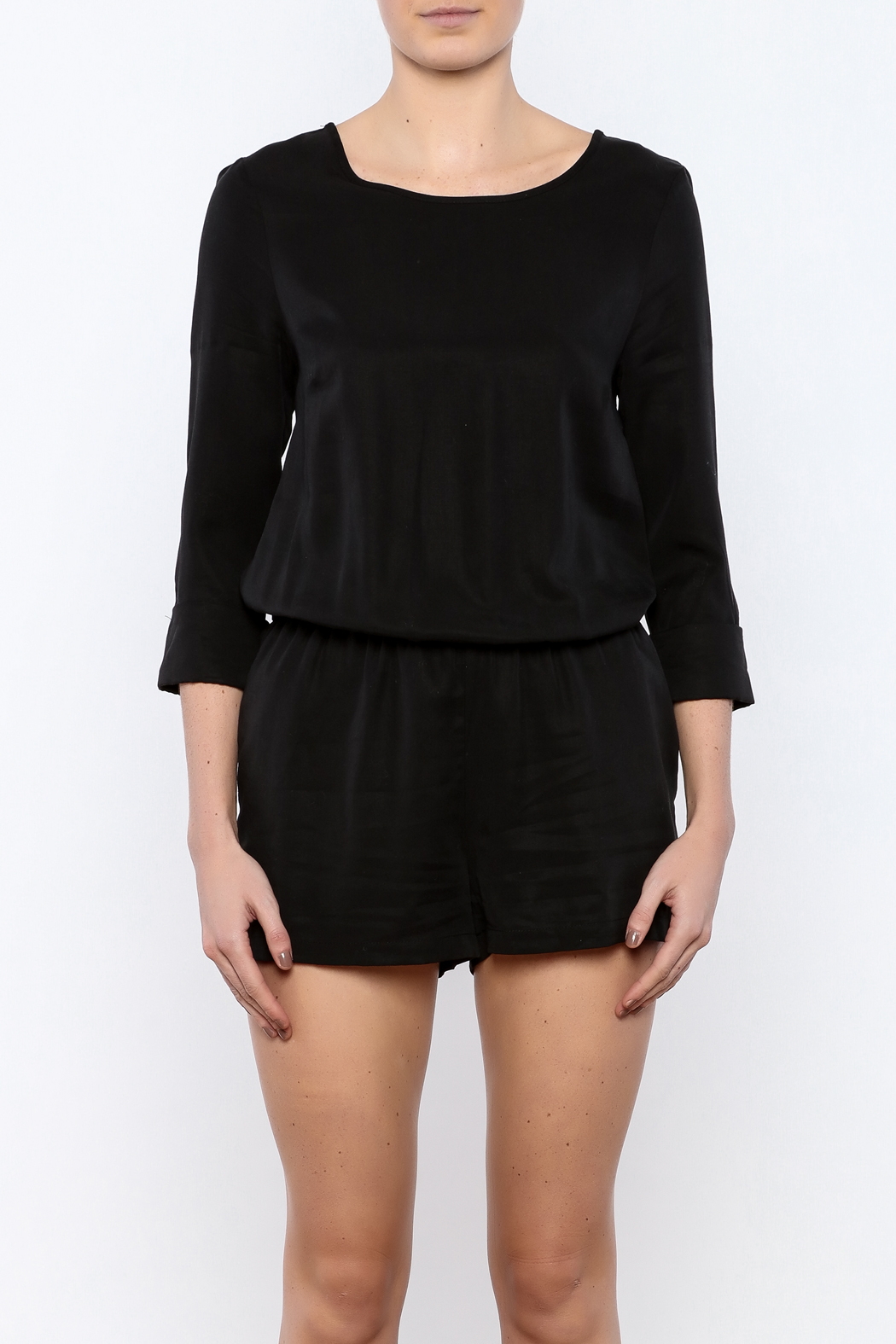 Bacio 3/4 Sleeve Romper - Side Cropped Image