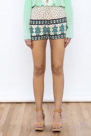 Shoptiques Product: Beige Printed Shorts - Side cropped