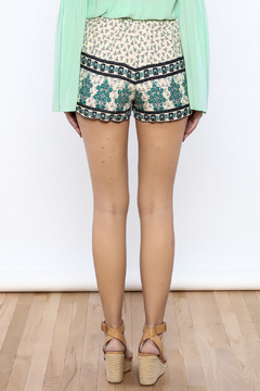 Bacio Beige Printed Shorts - Alternate List Image