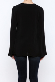 Shoptiques Product: Black Lace Up Top - Back cropped