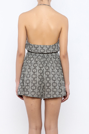 Shoptiques Product: Black White Romper - Back cropped