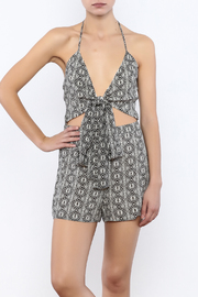 Shoptiques Product: Black White Romper - Front cropped