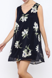 Bacio Blue Floral Dress - Product Mini Image