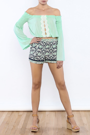Bacio Printed Shorts - Front full body