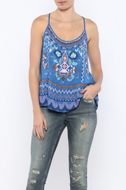 Bacio Blue Printed Top - Product Mini Image