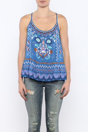 Bacio Blue Printed Top - Side cropped