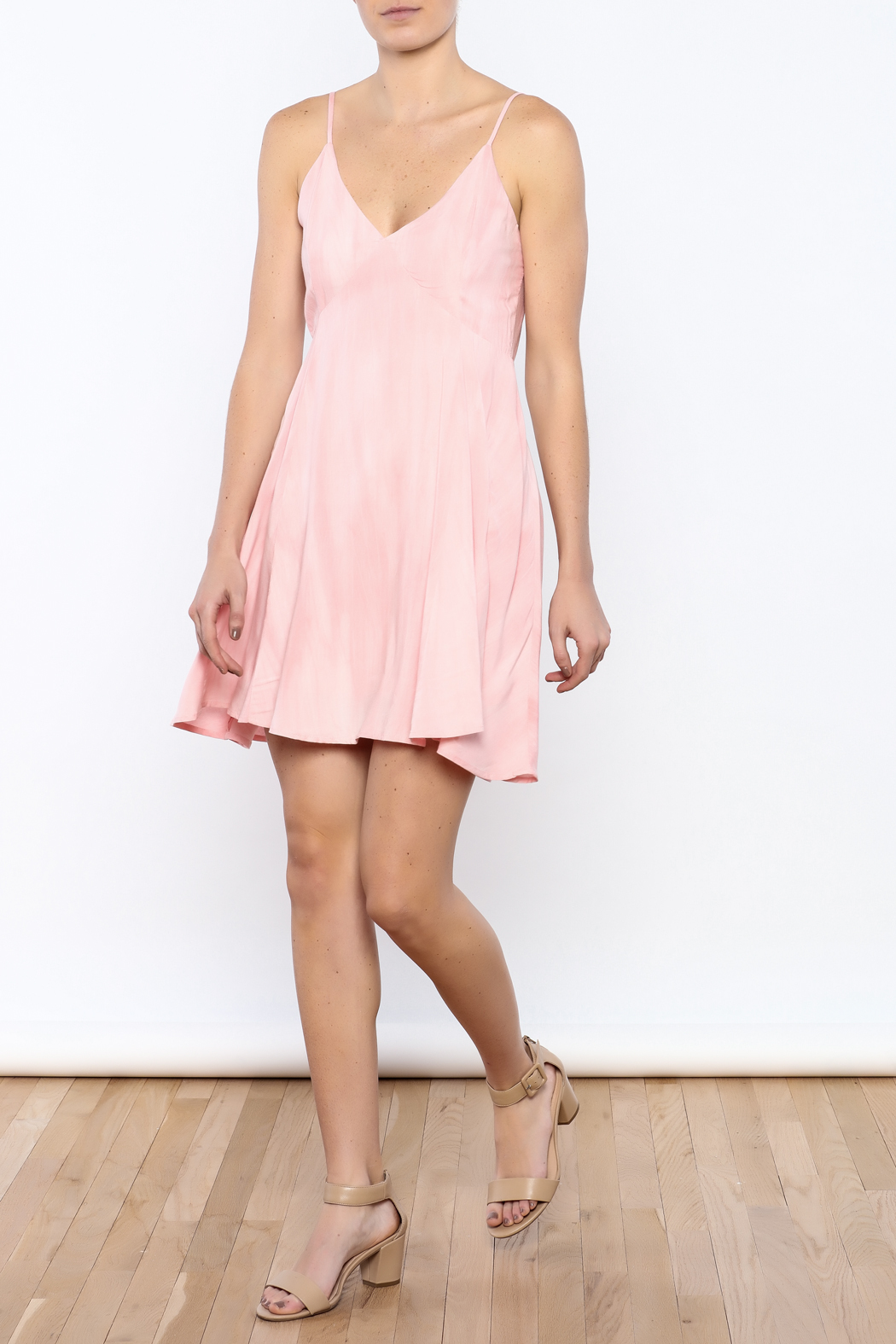 Bacio Blush Flared Dress - Front Full Image