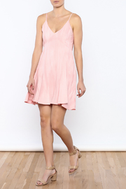 Bacio Blush Flared Dress - Front full body