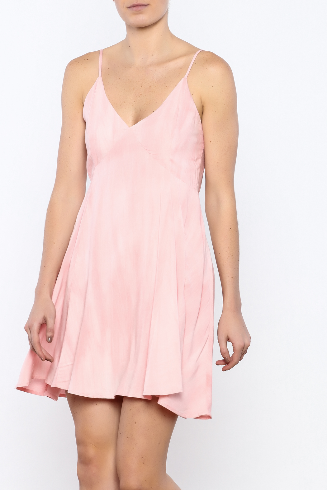 Bacio Blush Flared Dress - Front Cropped Image