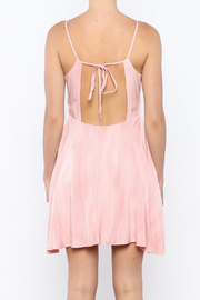 Bacio Blush Flared Dress - Back cropped