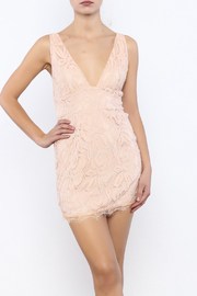 Bacio Blush Lace Overlay Dress - Product Mini Image