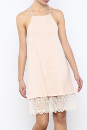 Shoptiques Product: Blush Lace Trim Dress