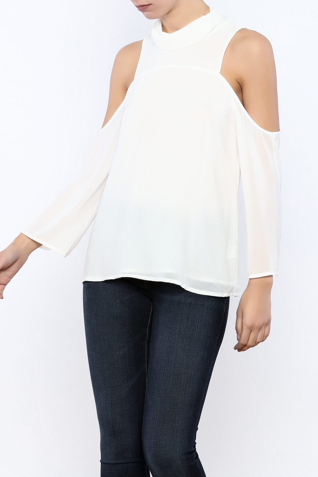 Bacio Cold Shoulder Top - Main Image