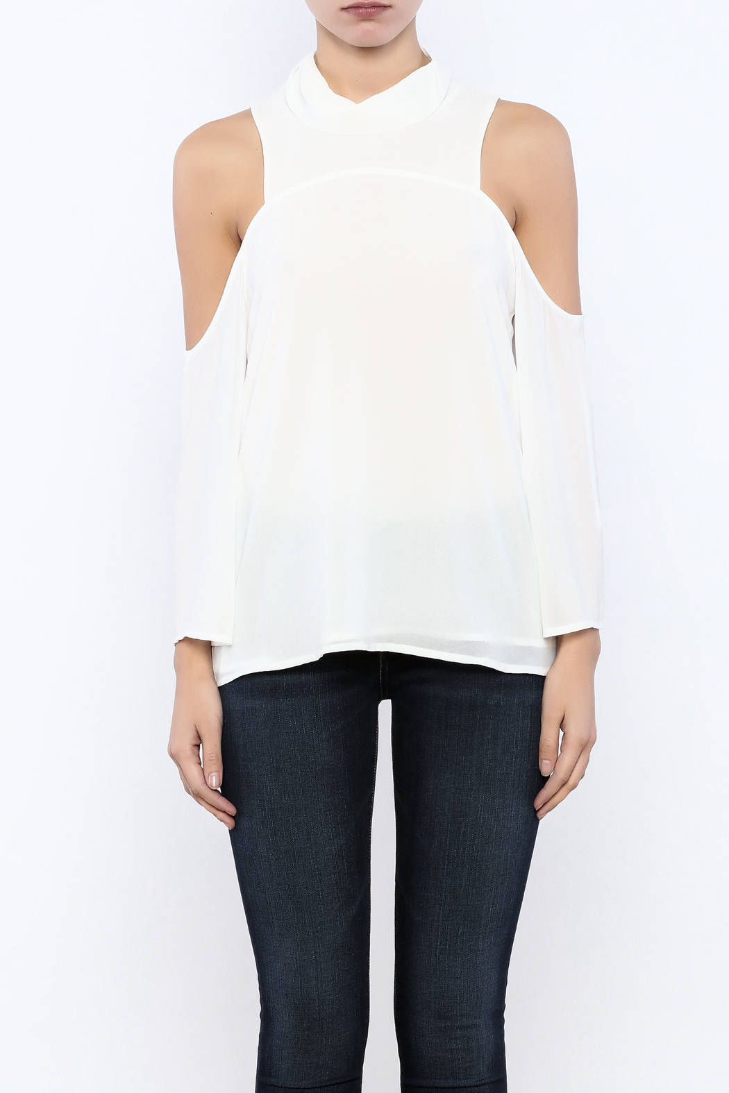Bacio Cold Shoulder Top - Side Cropped Image