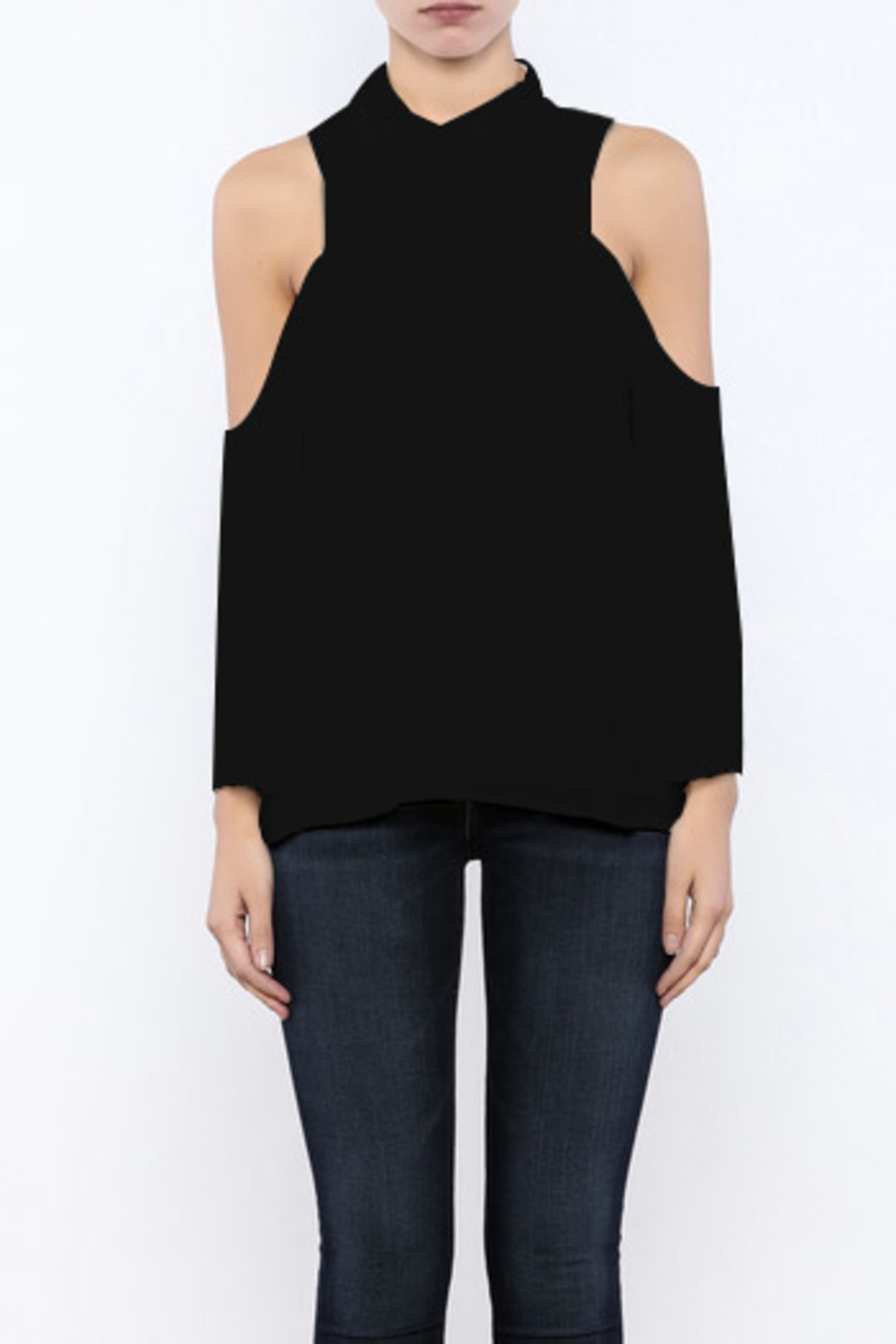 Bacio Cold Shoulder Top - Front Cropped Image