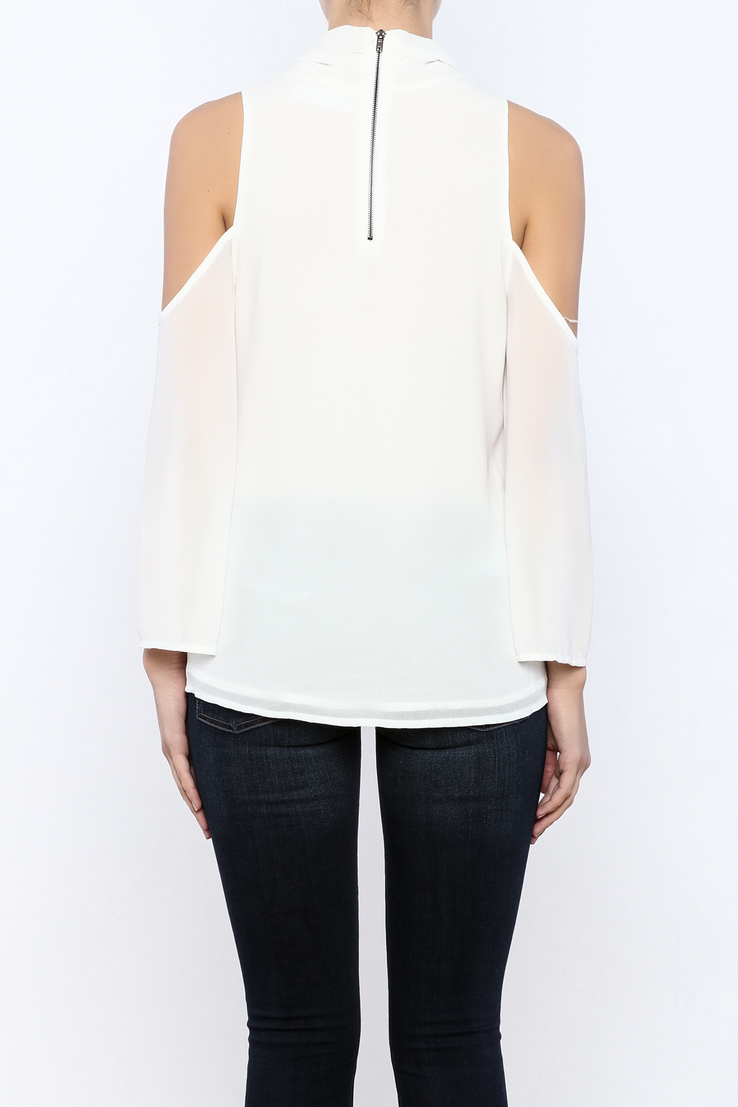 Bacio Cold Shoulder Top - Back Cropped Image