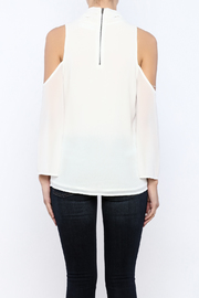 Bacio Cold Shoulder Top - Back cropped