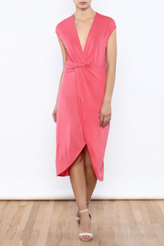 Bacio Coral Dress - Front full body