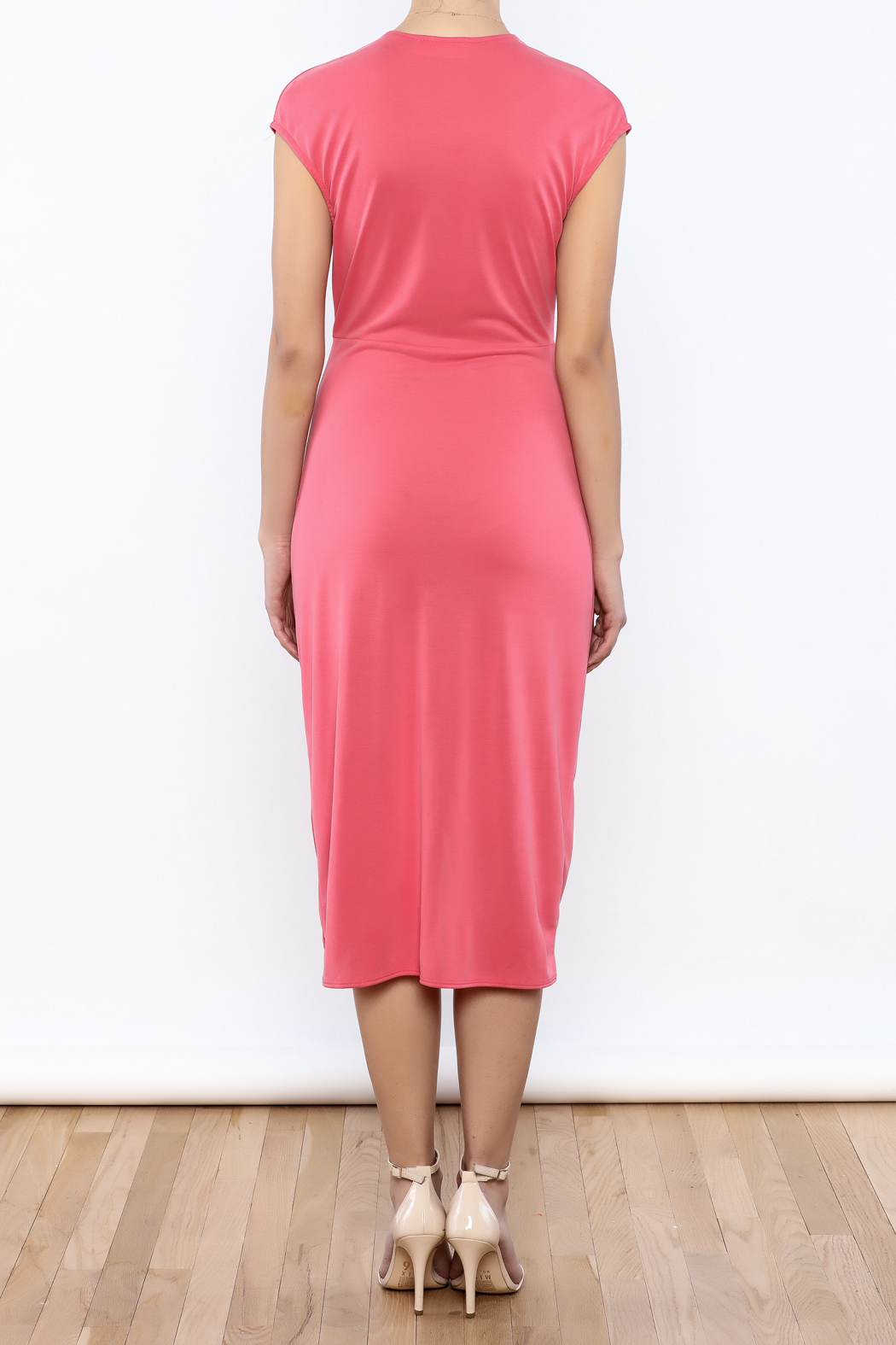 Bacio Coral Dress - Back Cropped Image