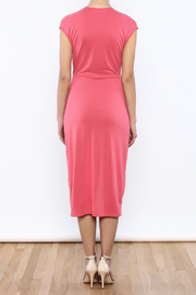 Bacio Coral Dress - Back cropped
