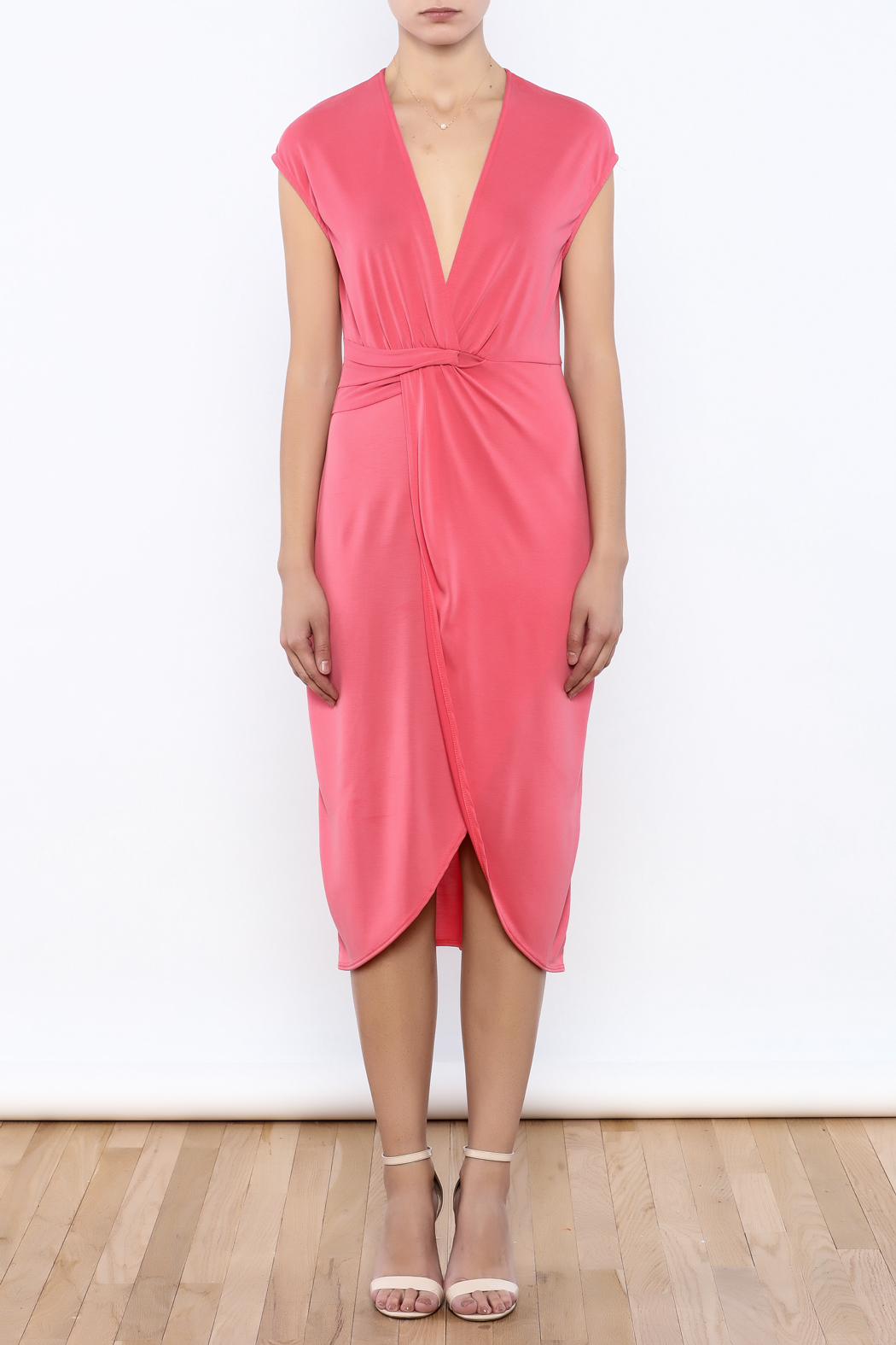 Bacio Coral Dress - Front Cropped Image