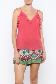 Bacio Coral Ruffle Top - Product Mini Image