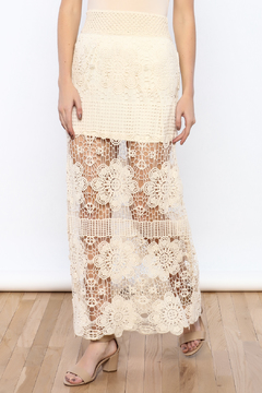 Bacio Cream Crochet Maxi Skirt - Product List Image