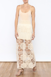 Shoptiques Product: Cream Crochet Maxi Skirt - Front full body