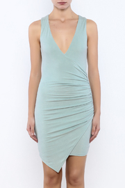 Shoptiques Product: Dusty Blue Bodycon Dress - Side cropped