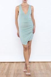 Shoptiques Product: Dusty Blue Bodycon Dress - Front full body