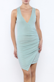 Shoptiques Product: Dusty Blue Bodycon Dress - Front cropped