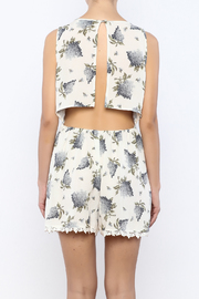 Shoptiques Product: Floral Printed Romper - Back cropped