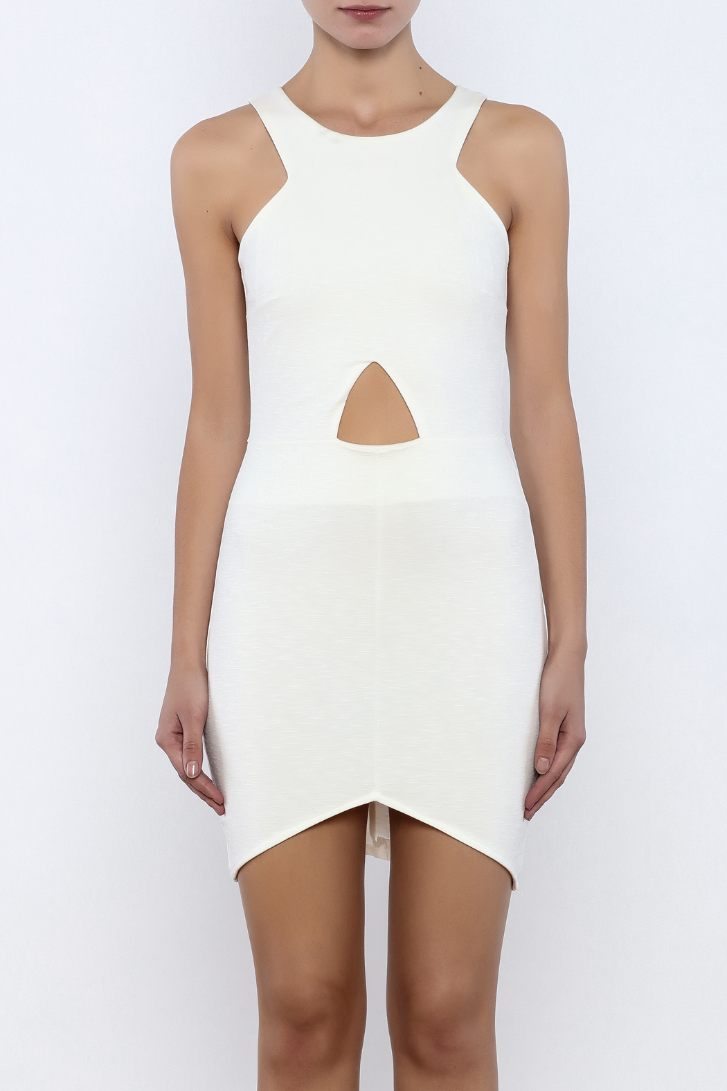 Bacio Front Cut Out Dress - Side Cropped Image