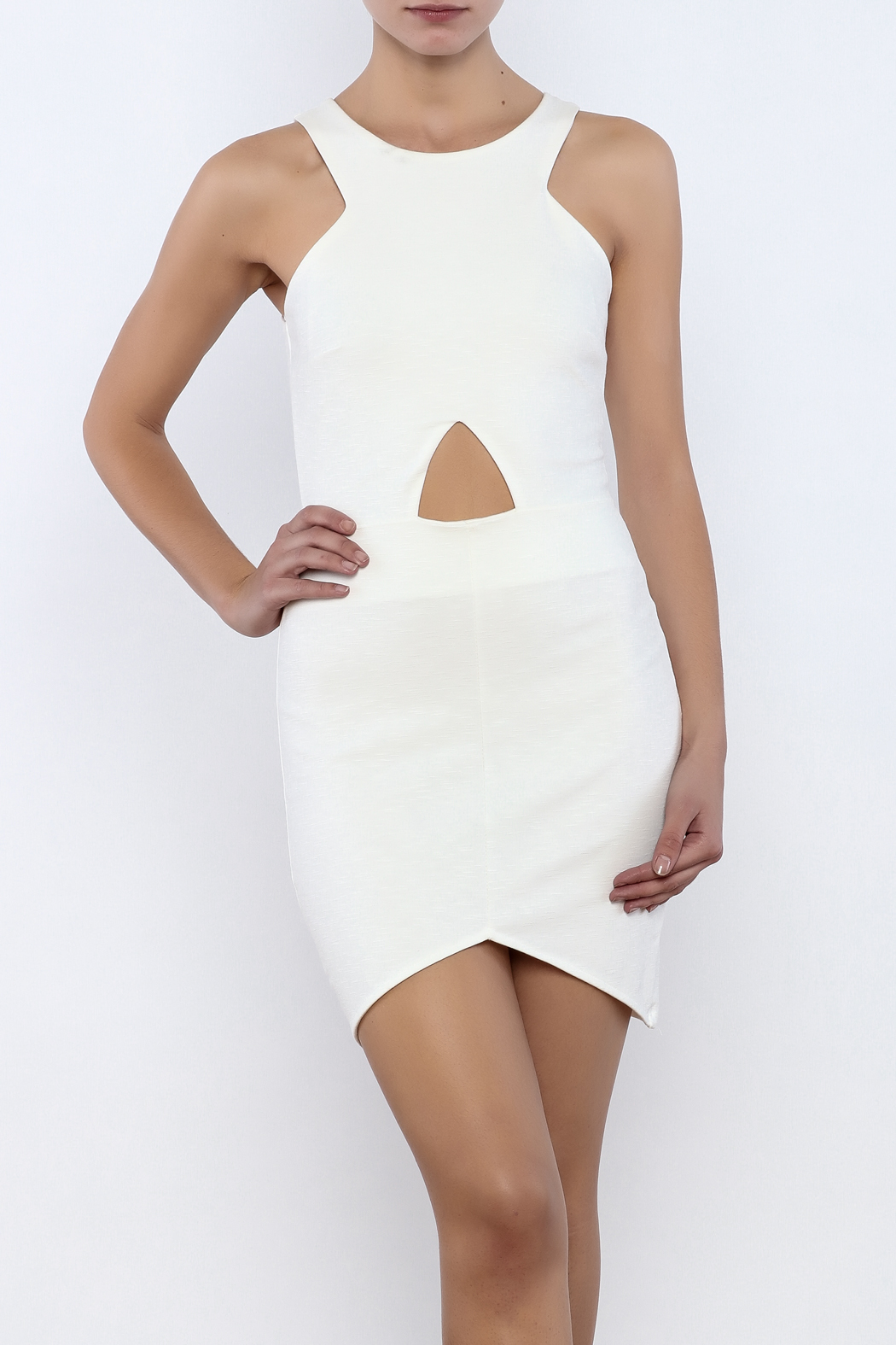 Bacio Front Cut Out Dress - Front Cropped Image