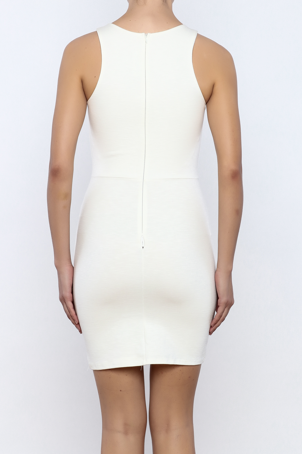 Bacio Front Cut Out Dress - Back Cropped Image