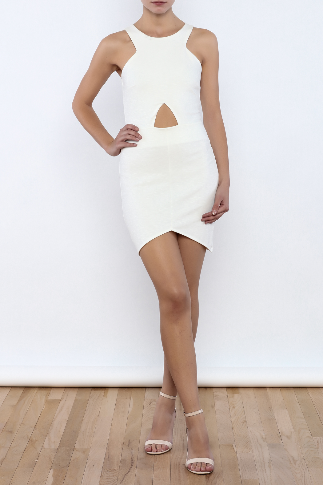 Bacio Front Cut Out Dress - Front Full Image