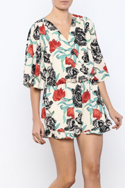 Shoptiques Product: Ivory Floral Printed Romper