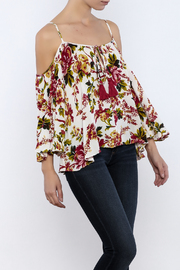 Shoptiques Product: Ivory Floral Top