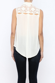 Shoptiques Product: Lace Back Top - Back cropped