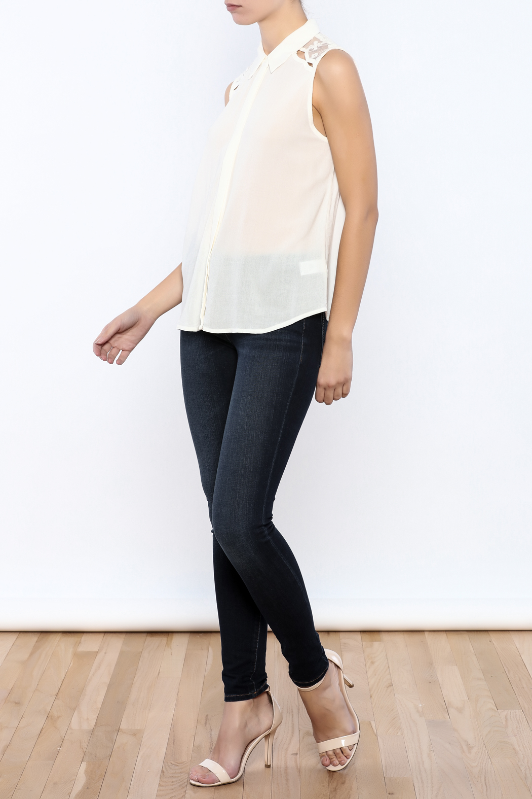 Bacio Lace Back Top - Front Full Image