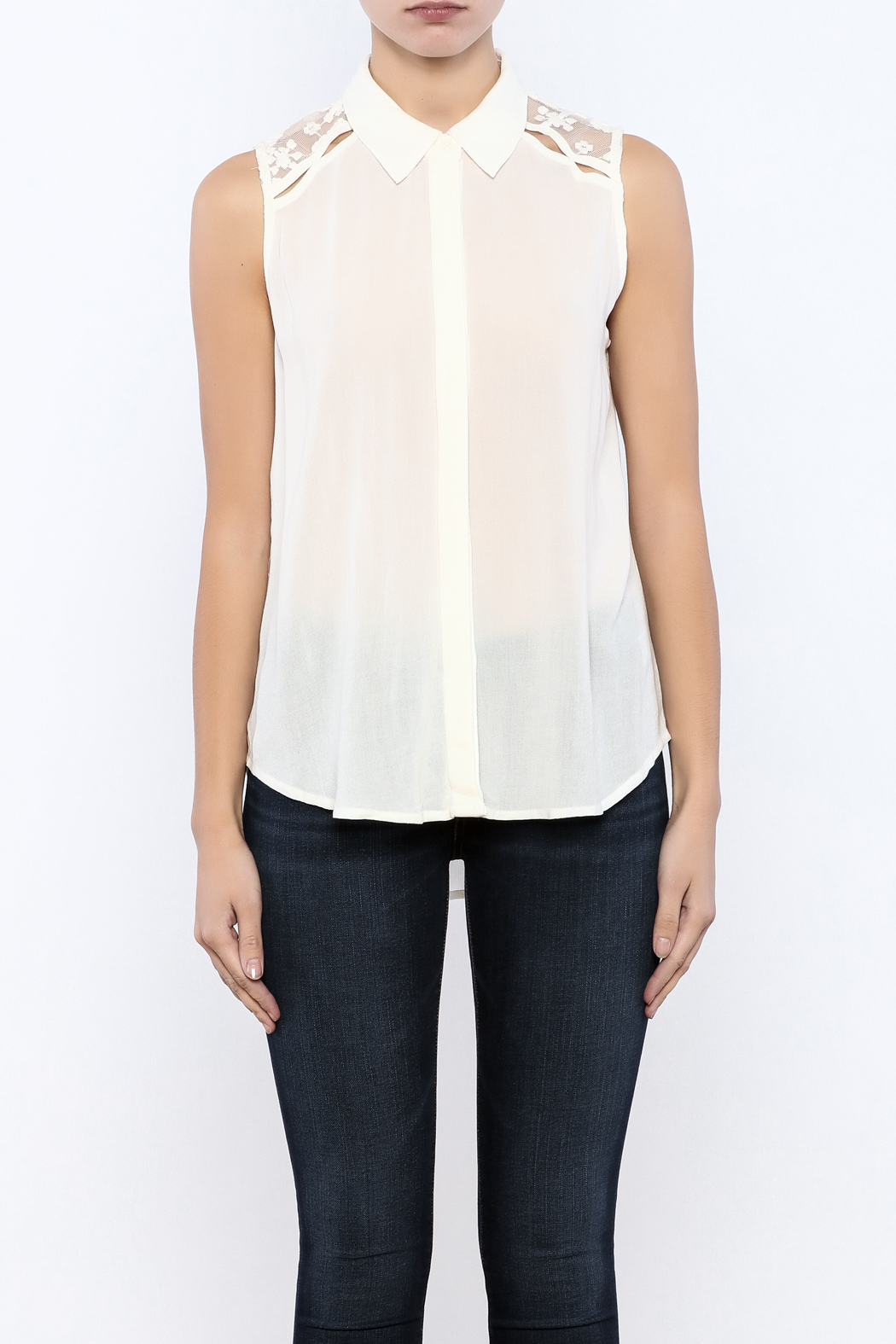 Bacio Lace Back Top - Side Cropped Image