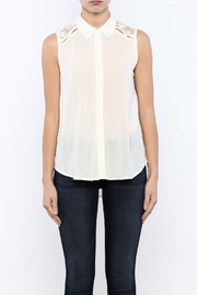 Shoptiques Product: Lace Back Top - Side cropped
