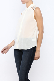 Shoptiques Product: Lace Back Top - Front cropped