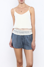 Bacio Lace Hem Tank - Product Mini Image