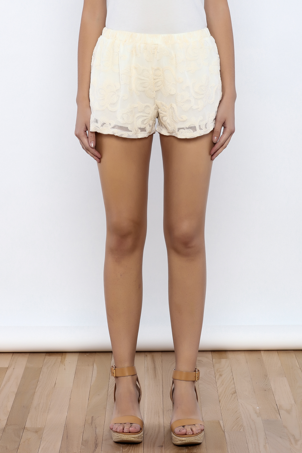 Bacio Lace Shorts - Side Cropped Image