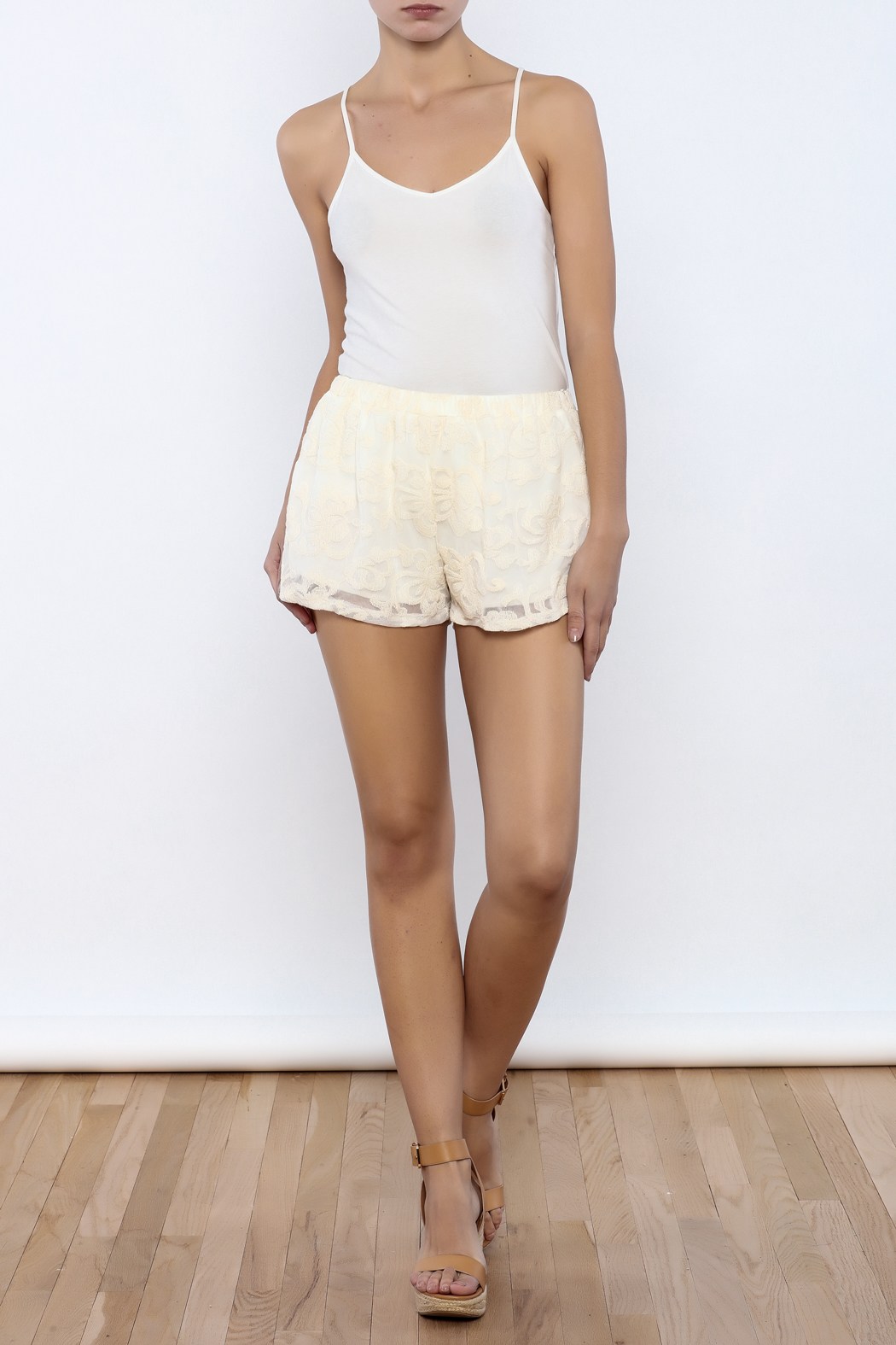 Bacio Lace Shorts - Front Full Image