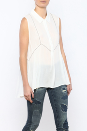 Bacio Long White Top - Product Mini Image