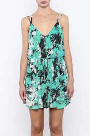 Bacio Mint Printed Romper - Side cropped