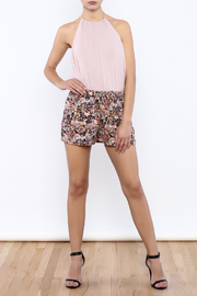 Bacio Multicolor Floral Shorts - Front full body