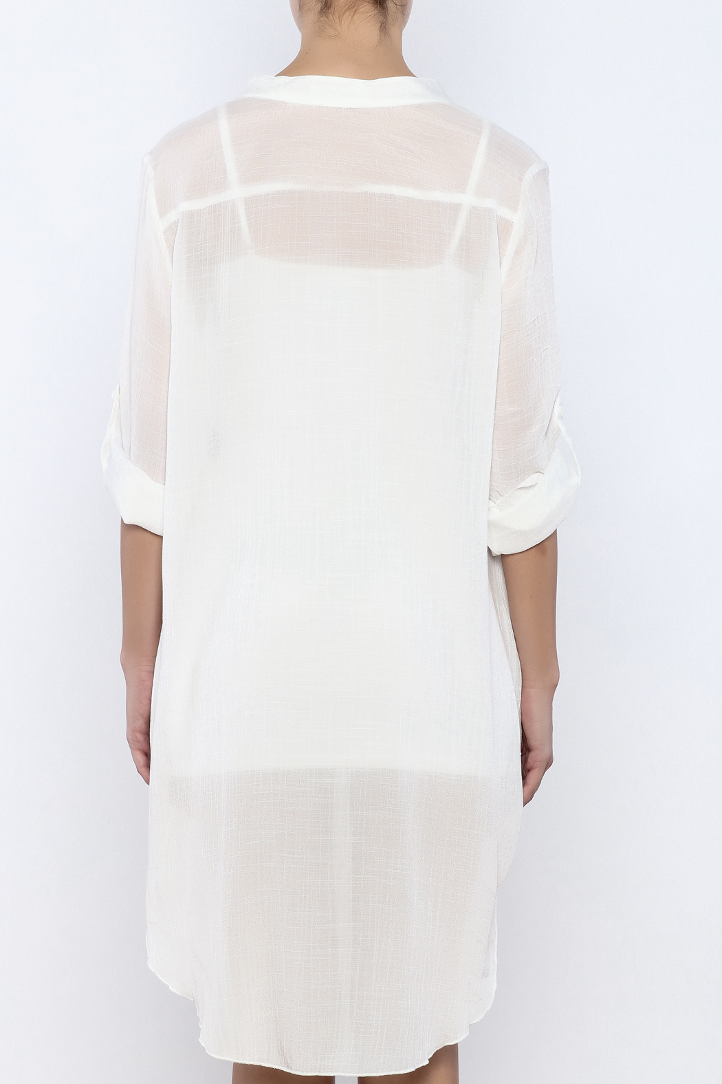Bacio Off White Dress - Back Cropped Image